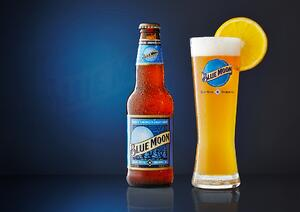 the Blue Moon orange is brilliant marketing