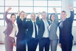 B2B clients cheering, Silicon Valley Research Group Client Successes Testimonials