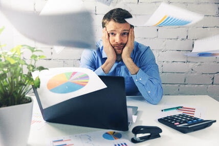 Marketer throwing graphs and charts in frustration, stop trying to quantify qualitative data with spreadsheets, tables, and graphs, there's a better way!
